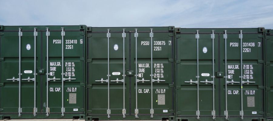 Containers horizontal